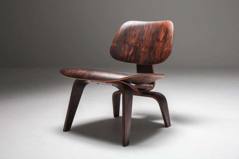 Eames LCW Pre-Production in Rio Rosewood In Excellent Condition For Sale In Antwerp, BE