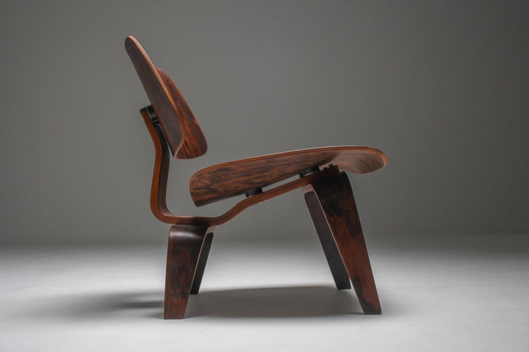 Mid-20th Century Eames LCW Pre-Production in Rio Rosewood For Sale