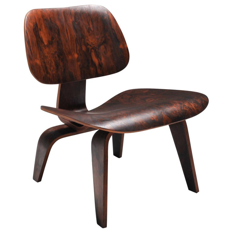Eames LCW Pre-Production in Rio Rosewood For Sale