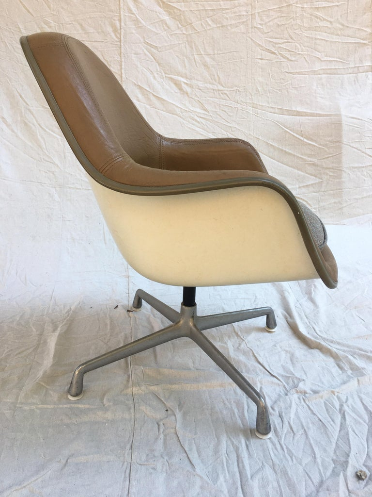 Late 20th Century Eames Leather High Back Chairs For Sale