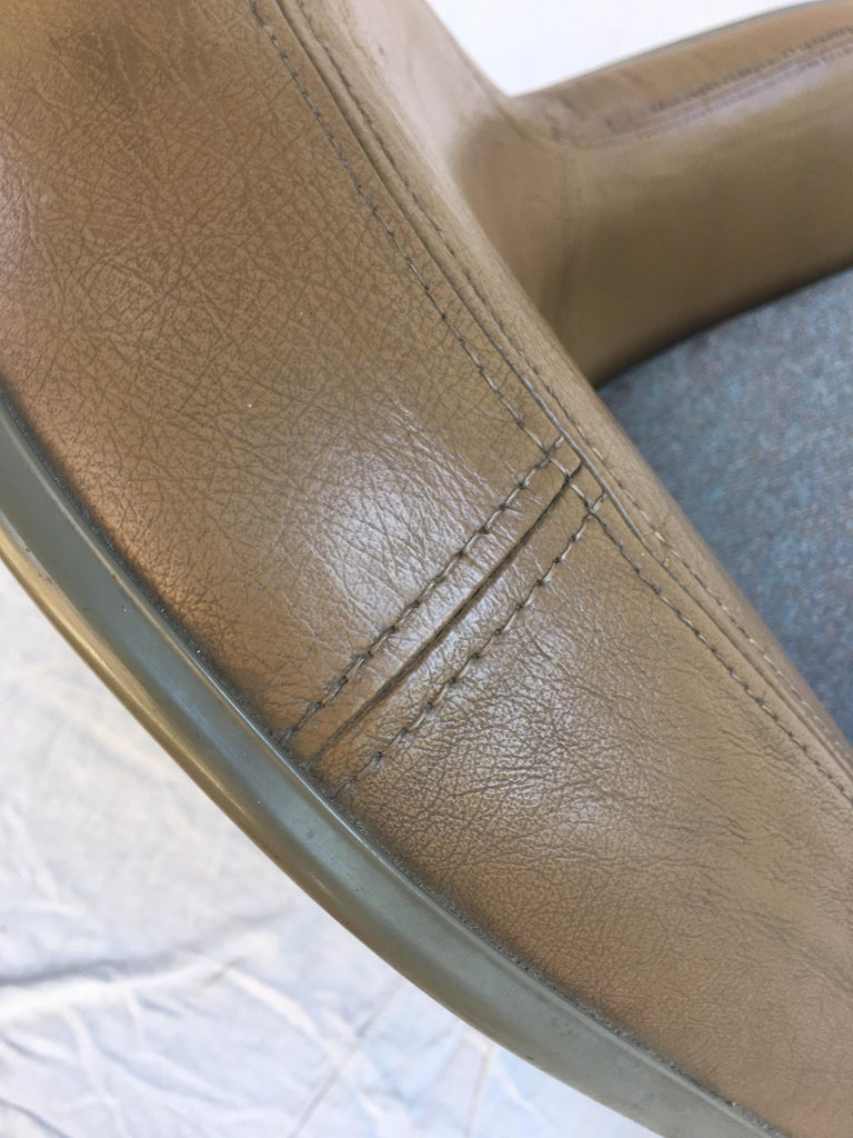 Eames Leather High Back Chairs For Sale 2