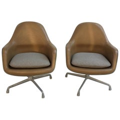 Eames Leather High Back Chairs