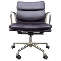 Eames Leather Soft Pad Management Chairs for Herman Miller