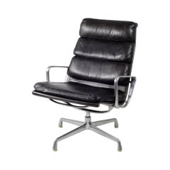 Eames Leather Swivel Soft Pad EA 216 Lounge Chair by Interform for Herman Miller