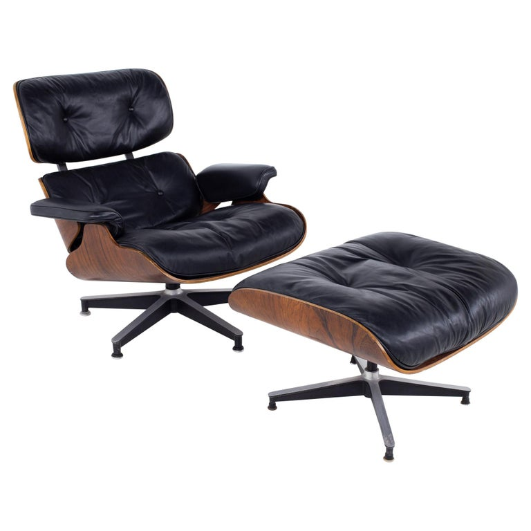 Eames Mid Century Lounge Chair and Ottoman For Sale