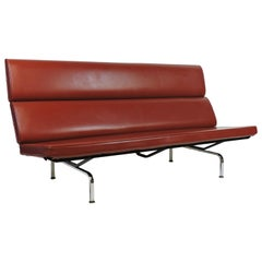 Eames Mid-Century Modern Compact Sofa by Herman Miller