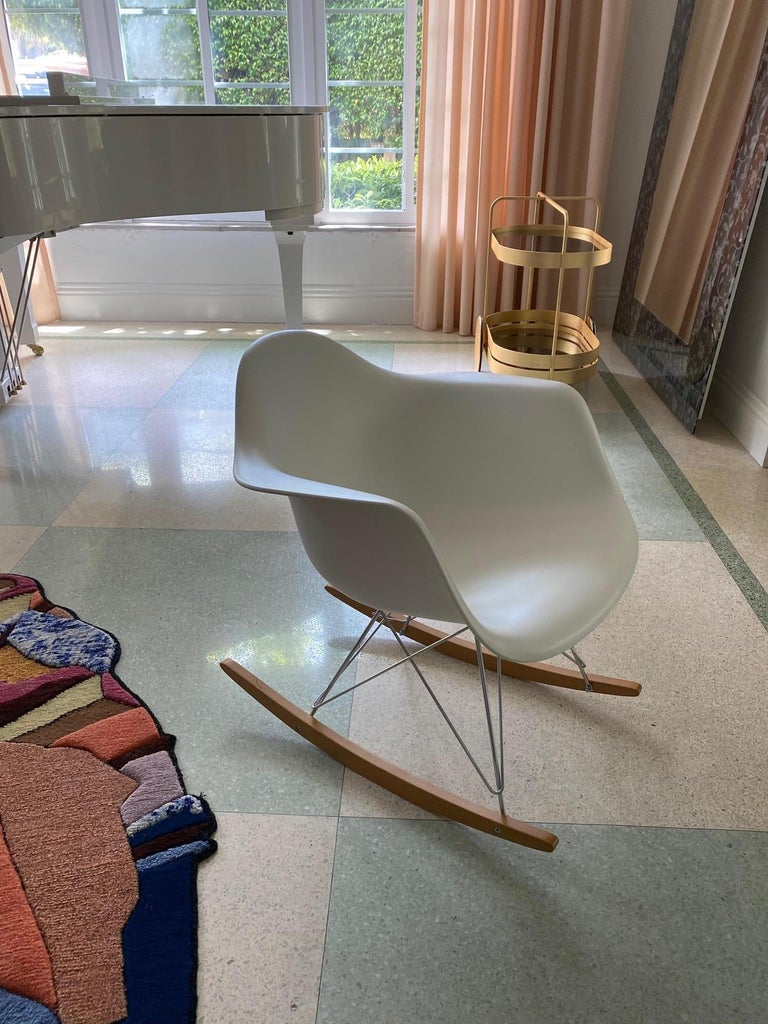 American Eames Molded Armchair, Rocker Base designed by Charles and Ray Eames For Sale