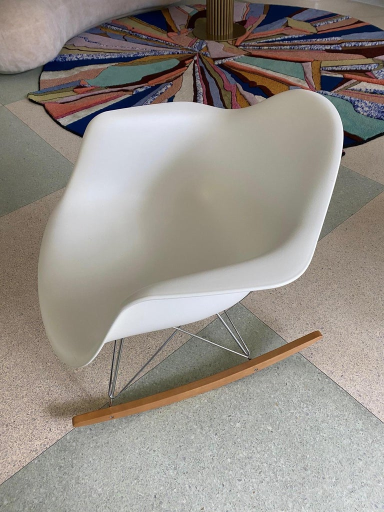 Contemporary Eames Molded Armchair, Rocker Base designed by Charles and Ray Eames For Sale