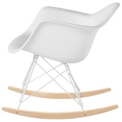 Eames Molded Armchair, Rocker Base designed by Charles and Ray Eames