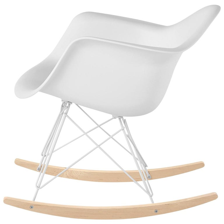 Eames Molded Armchair, Rocker Base designed by Charles and Ray Eames For Sale