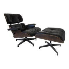 Eames Rosewood 670 Lounge Chair with Ottoman by Herman Miller
