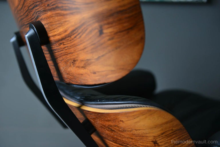 Eames Rosewood Lounge Chair and Ottoman, circa 1971 3