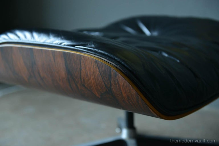 Eames Rosewood Lounge Chair and Ottoman, circa 1971 4