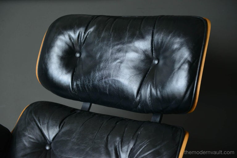 Late 20th Century Eames Rosewood Lounge Chair and Ottoman, circa 1971