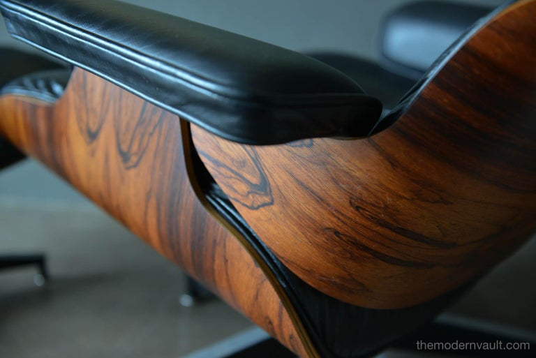 Eames Rosewood Lounge Chair and Ottoman, circa 1971 1