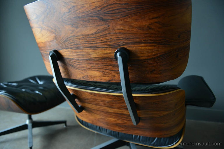 Eames Rosewood Lounge Chair and Ottoman, circa 1971 2