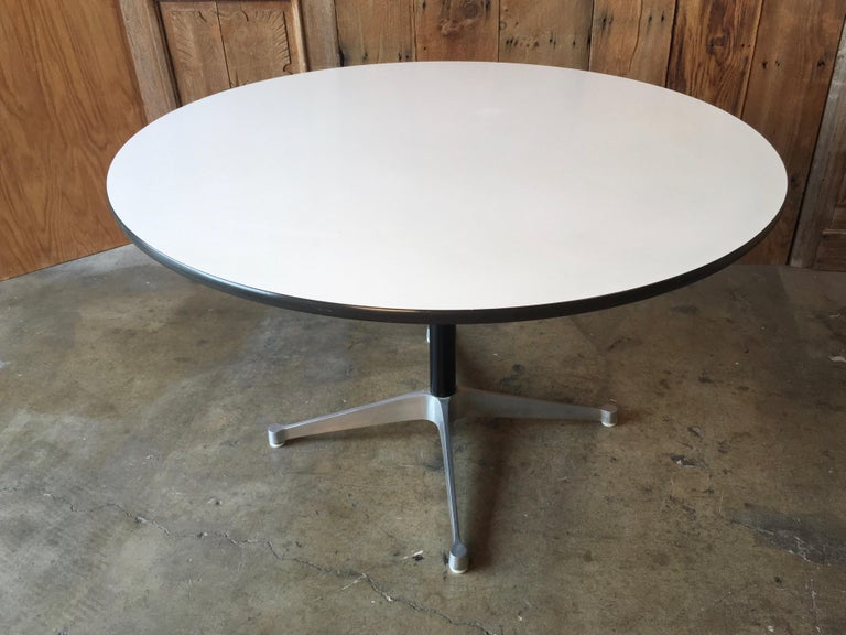 Eames Round Dining Table For Herman Miller 1960s