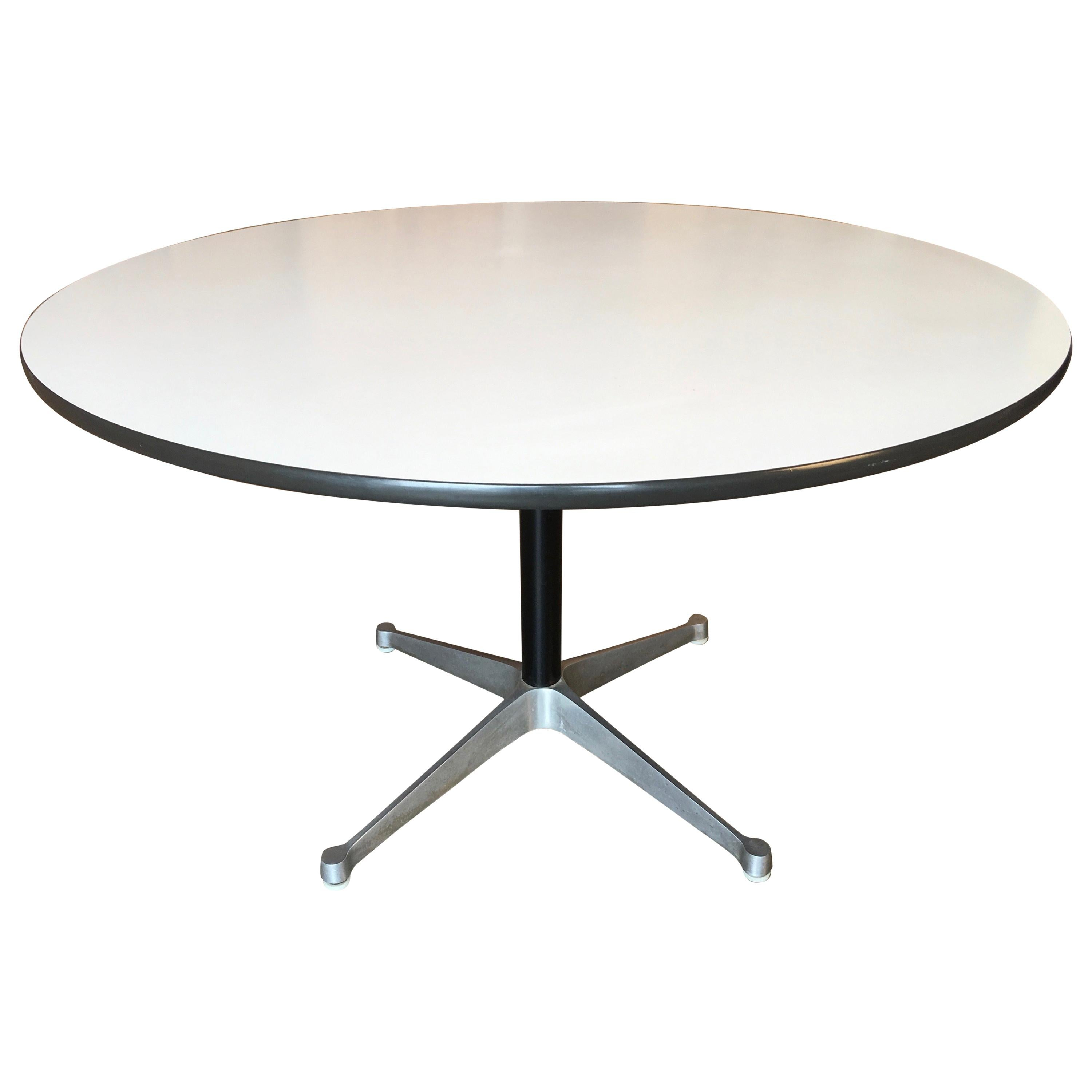 Beau Eames Round Dining Table For Herman Miller, 1960s