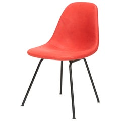 Eames Side Chair Red Leather, 1960s