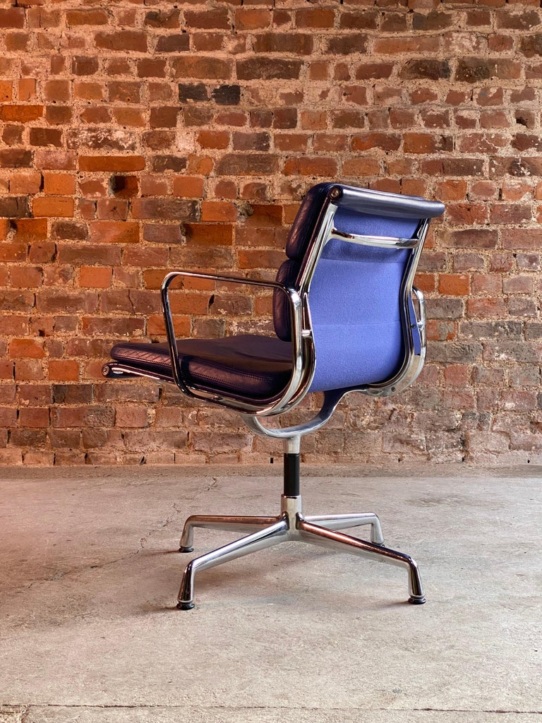 Leather Eames Soft Pad Group EA208 by Vitra Charles & Ray Eames, circa 2000