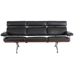Eames Soft Pad Leather Sofa for Herman Miller, 1984