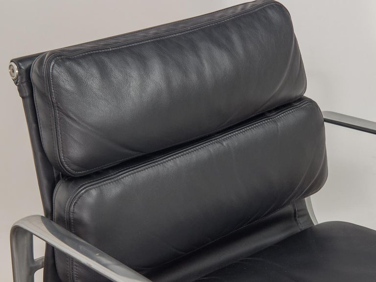 Leather Eames Soft Pad Management Chair For Sale
