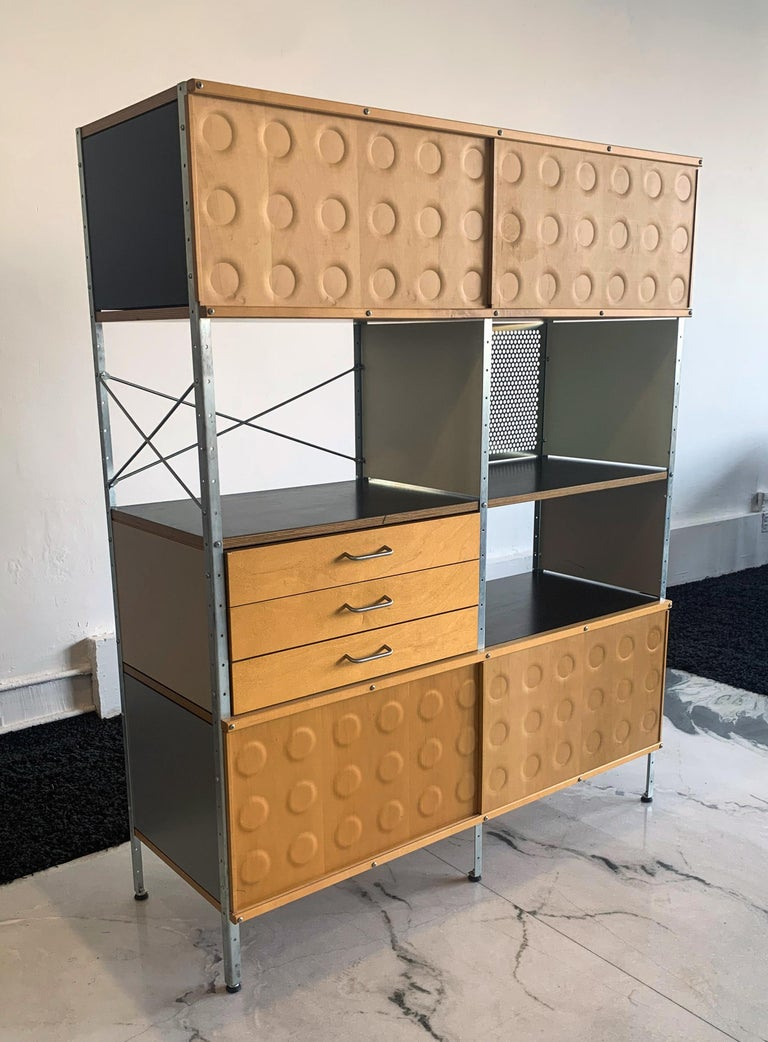 Mid-Century Modern Eames Storage Unit 4x2 Wall Unit, with Herman Miller COA