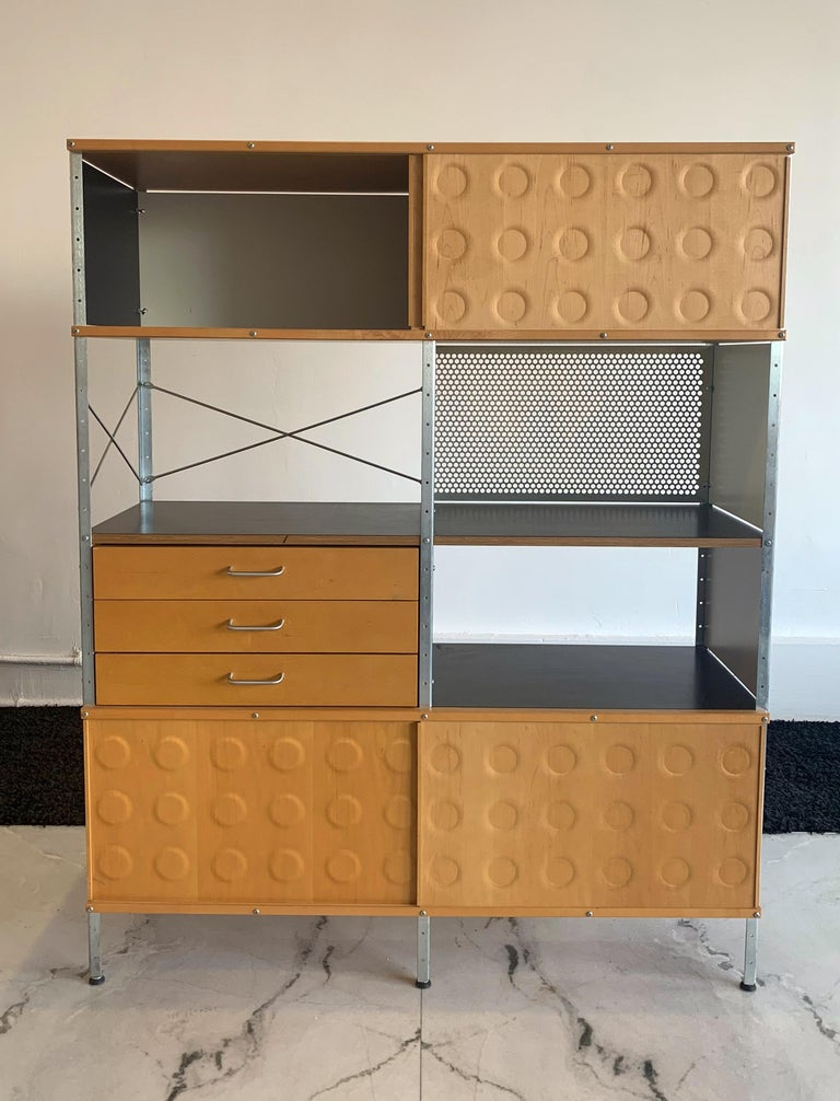 Eames Storage Unit 4x2 Wall Unit, with Herman Miller COA In Good Condition In Tempe, AZ