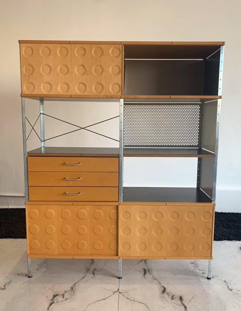 Contemporary Eames Storage Unit 4x2 Wall Unit, with Herman Miller COA