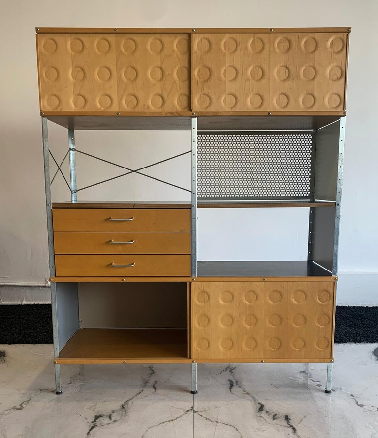 Steel Eames Storage Unit 4x2 Wall Unit, with Herman Miller COA