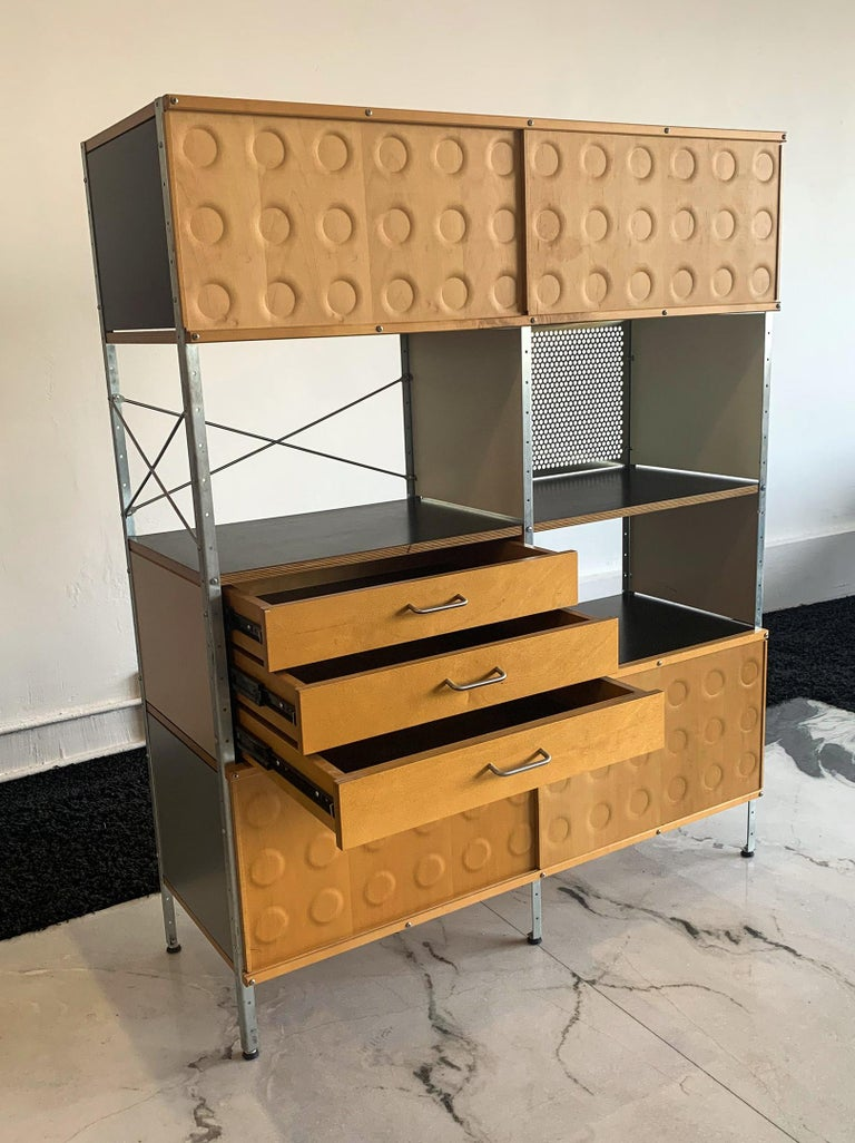 Eames Storage Unit 4x2 Wall Unit, with Herman Miller COA 1