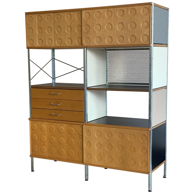 Eames Storage Unit 4x2 Wall Unit, with Herman Miller COA