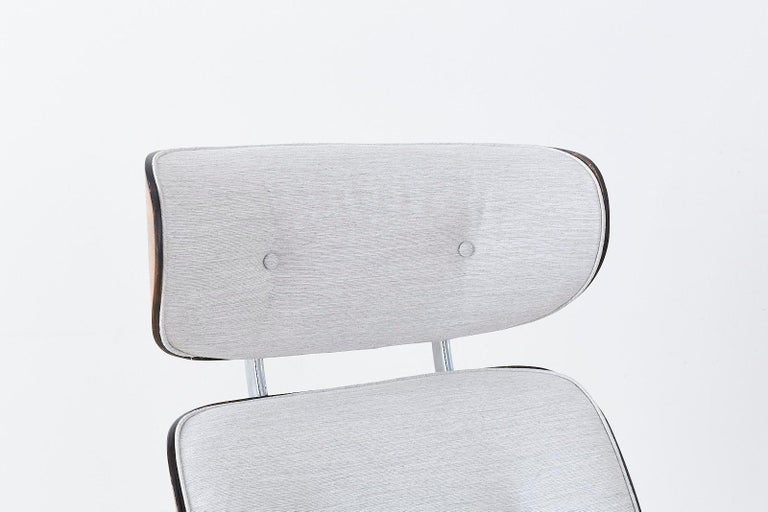 20th Century Eames Style Lounge Chair and Ottoman by Plycraft For Sale