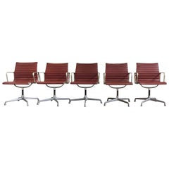 Eames Swivel Chairs for Herman Miller, a Set of 5