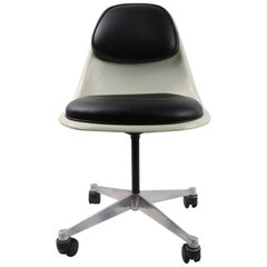 Eames Swivel Desk Chair with attached Pad Upholstery