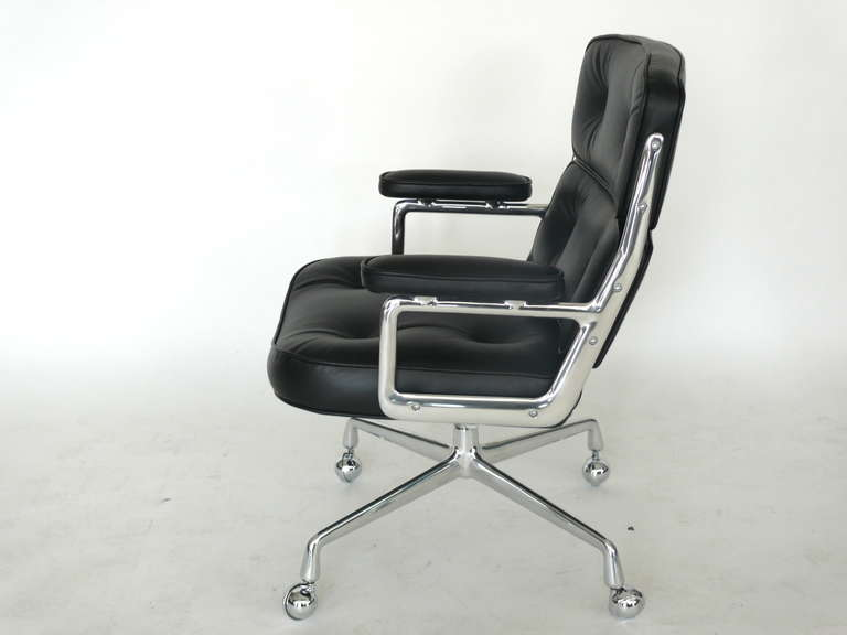 Chrome Eames Time Life Chair For Sale