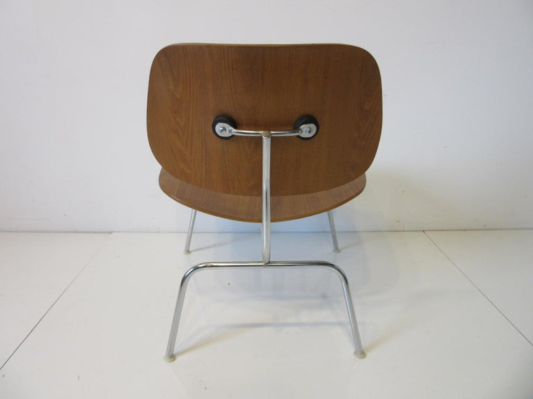 20th Century Eames Walnut / Chrome LCM 'Lounge Chair Metal' for Herman Miller 'B' For Sale