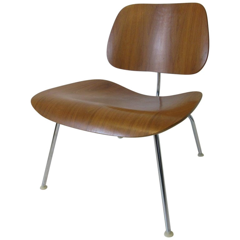 Eames Walnut / Chrome LCM 'Lounge Chair Metal' for Herman Miller 'B' For Sale
