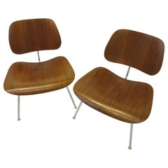 Eames Walnut LCM Lounge Chairs for Herman Miller