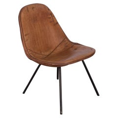 Eames Wire Chair with Leather Covering