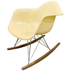 Eames Zenith RAR Rocking chair with rope edge