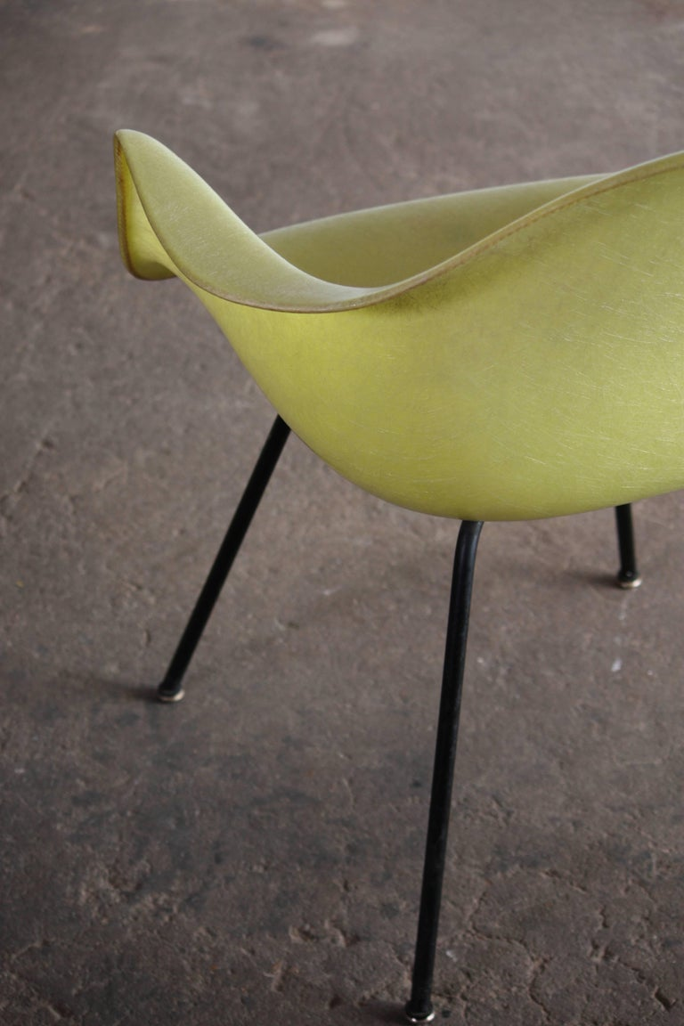 Mid-20th Century Eames Zenith Rope Edge Fiberglass Armchair from Herman Miller For Sale