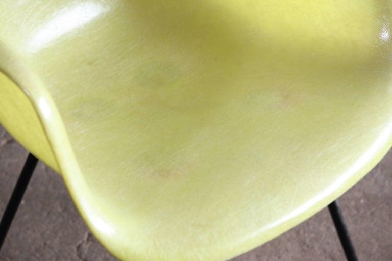 Steel Eames Zenith Rope Edge Fiberglass Armchair from Herman Miller For Sale