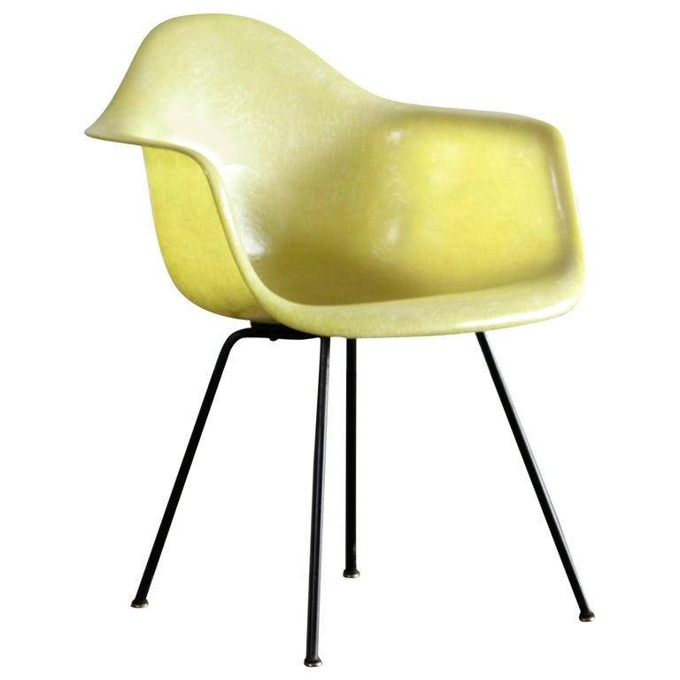 Eames Zenith Rope Edge Fiberglass Armchair from Herman Miller For Sale