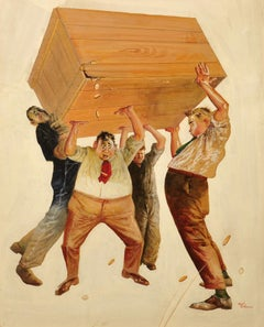 Men Holding Up a Box