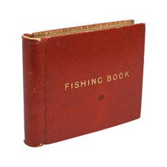 Earl De Grey Fishing Book with Red Leather Binding