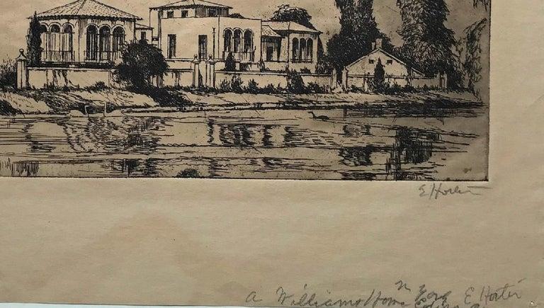 The Arthur Williams Estate - Brown Landscape Print by Earl Horter
