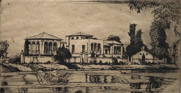 Earl Horter Landscape Print - The Arthur Williams Estate