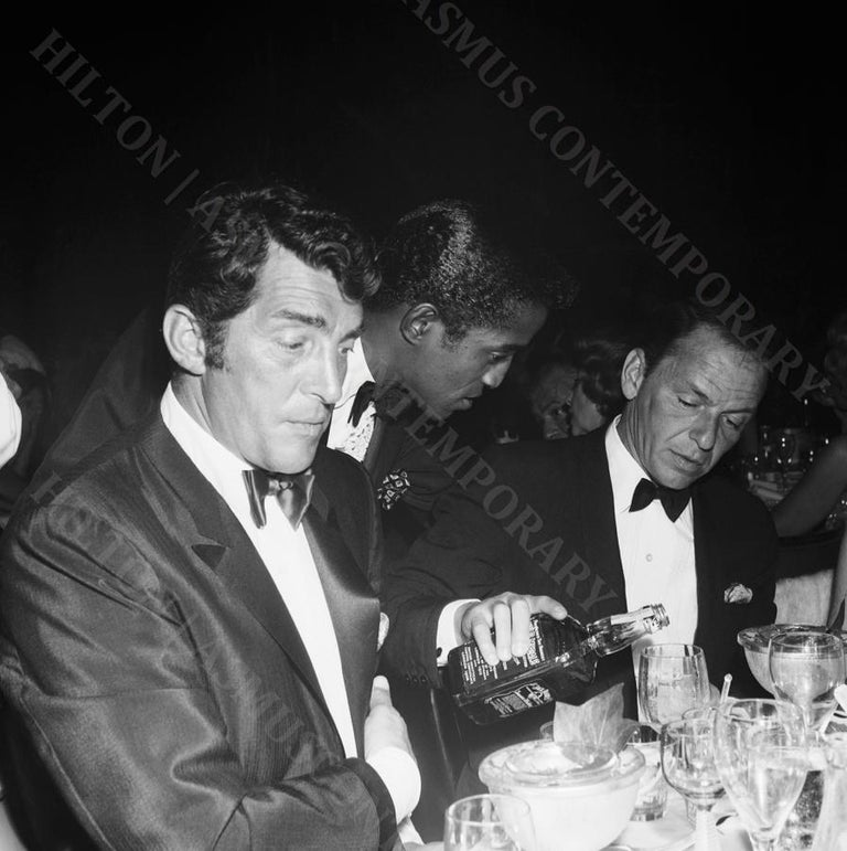 Earl Leaf Black and White Photograph - Rat Packin' with a Bottle of Jack
