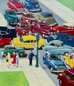 Traffic Jam, Saturday Evening Post Cover, 1956